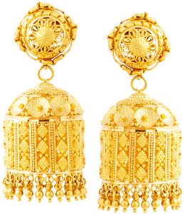 Bell shaped jhumki