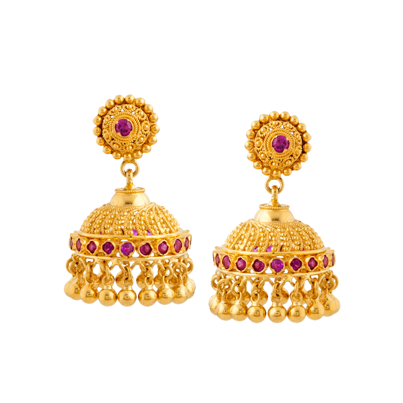 Traditional round jhumki