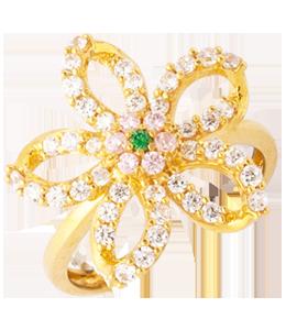 5 petal stone ring