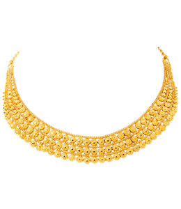3 line golden bead chokar