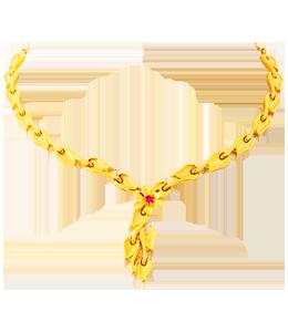 casting leaf necklace