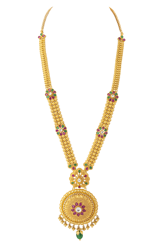 Calcutta design necklace with  red bead