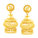 Lantern shaped jhumki