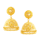 Elegant golden jhumki