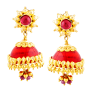 Red sun top jhumki