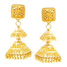Temple shaped jhumki