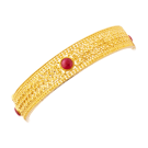 Bengali ethinic bangle with red stones