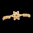 Casting single stone flower bangle