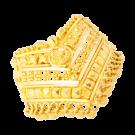 Golden V shaped ring