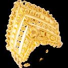 Detailed crown ring