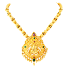 Coorgi ball with lakshmi pendant necklace