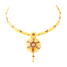 Meenakari enamal necklace