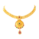 Bengali design necklace with stone